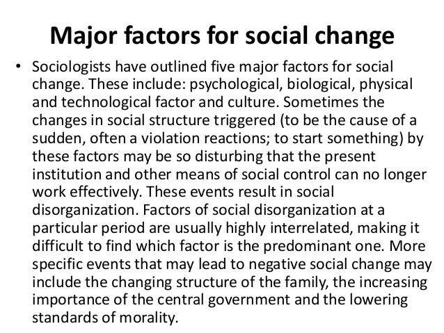 Is Social Change Necessary?