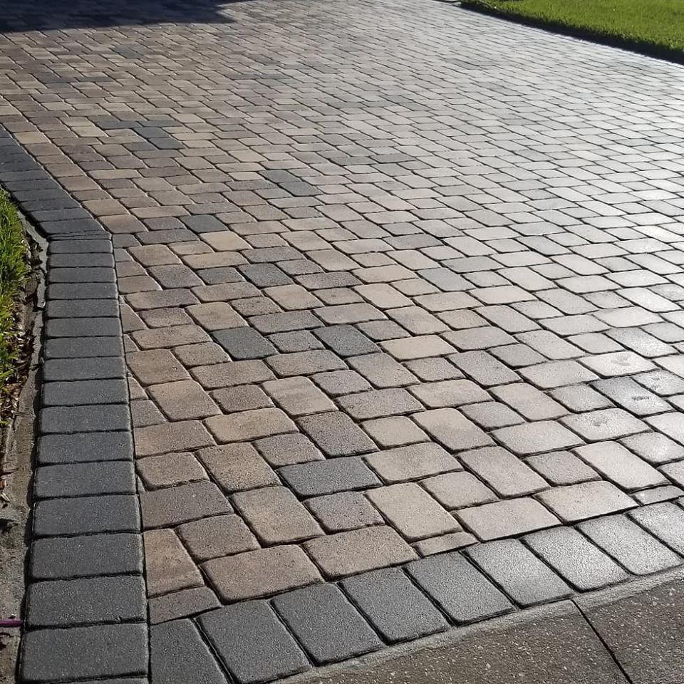 We can safely clean and seal brick pavers with power washing and high-quality sealing products