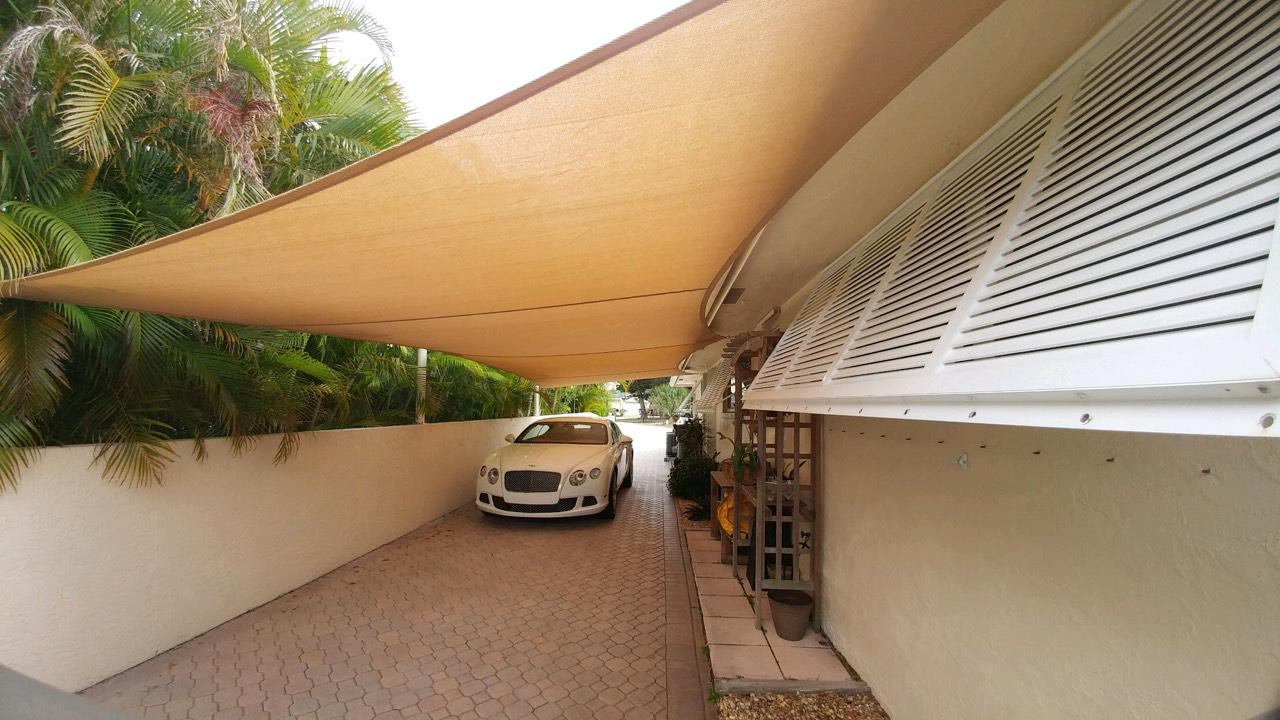 Residential Sail Shade Structures throughout Florida