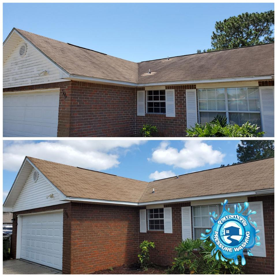 We use soft washing to safely clean black streaks and algaefrom residential and commercial roofs.