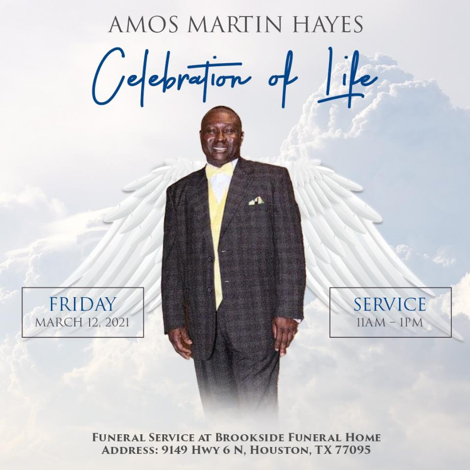 Funeral Service for Amos Martin Hayes