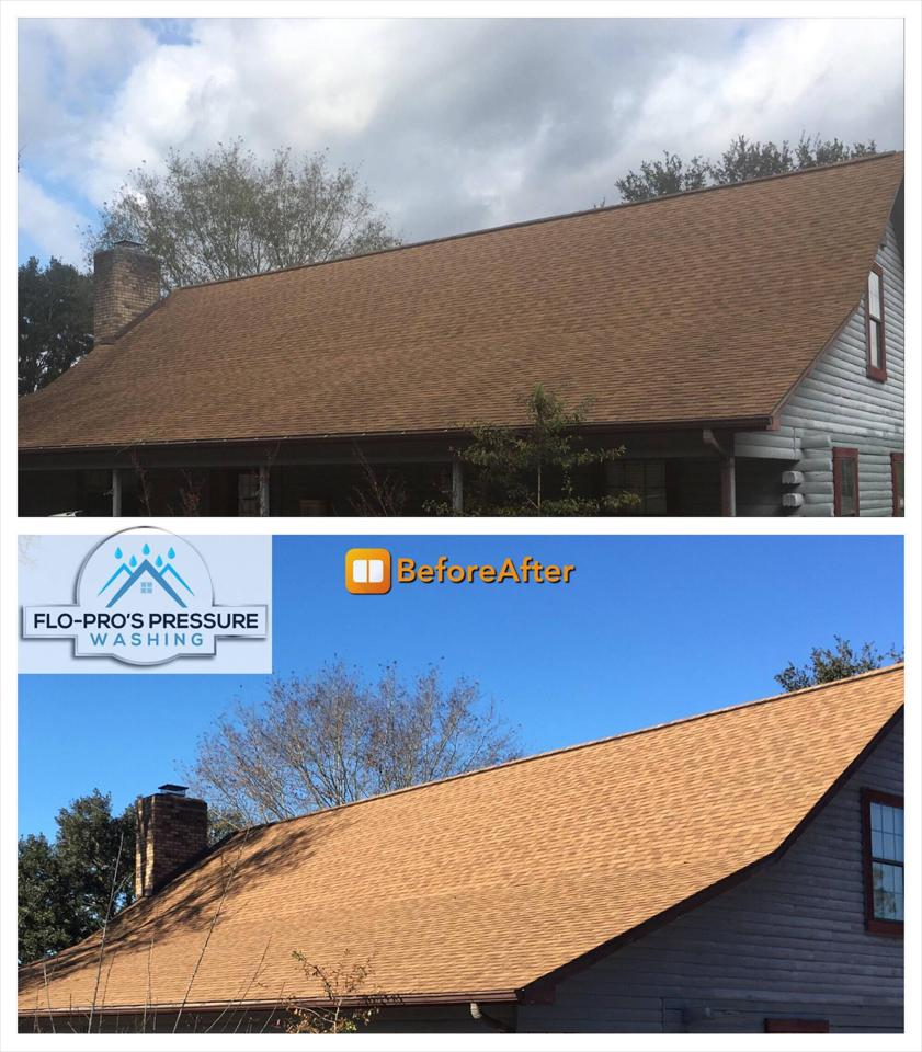 Flo-Pro's Pressure Washing offers affordable low-pressure soft-wash residential roof cleaning services to homes and businesses throughout Northwest Florida.