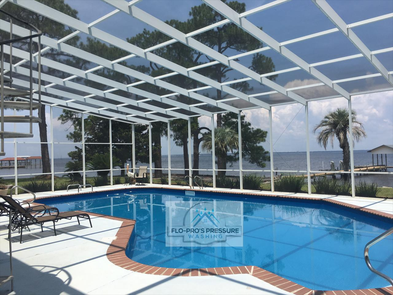 Is your pool deck and cage looking extremely dull, cloudy, and dirty?