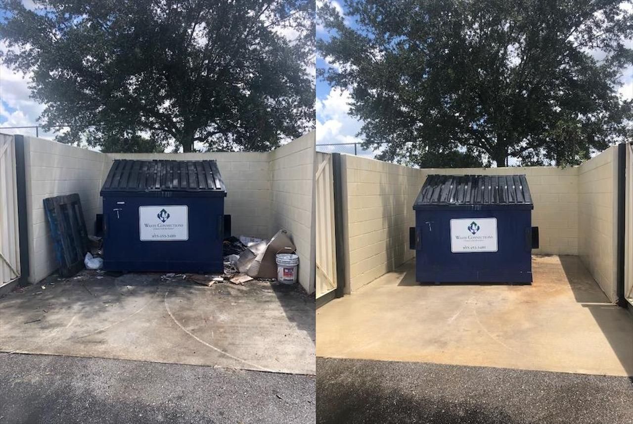 Dumpster and Dumpster Pad Cleaning