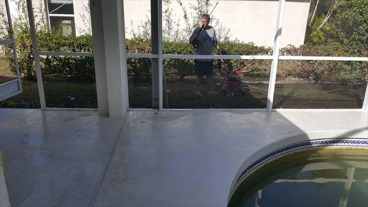 Pool Deck Cleaning & Sealing