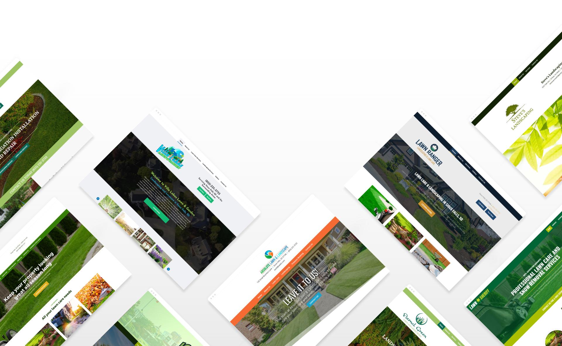 Lawn Care website examples