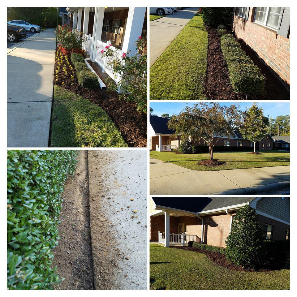 We purchase, deliver,and plant flowers, bushes, and trees