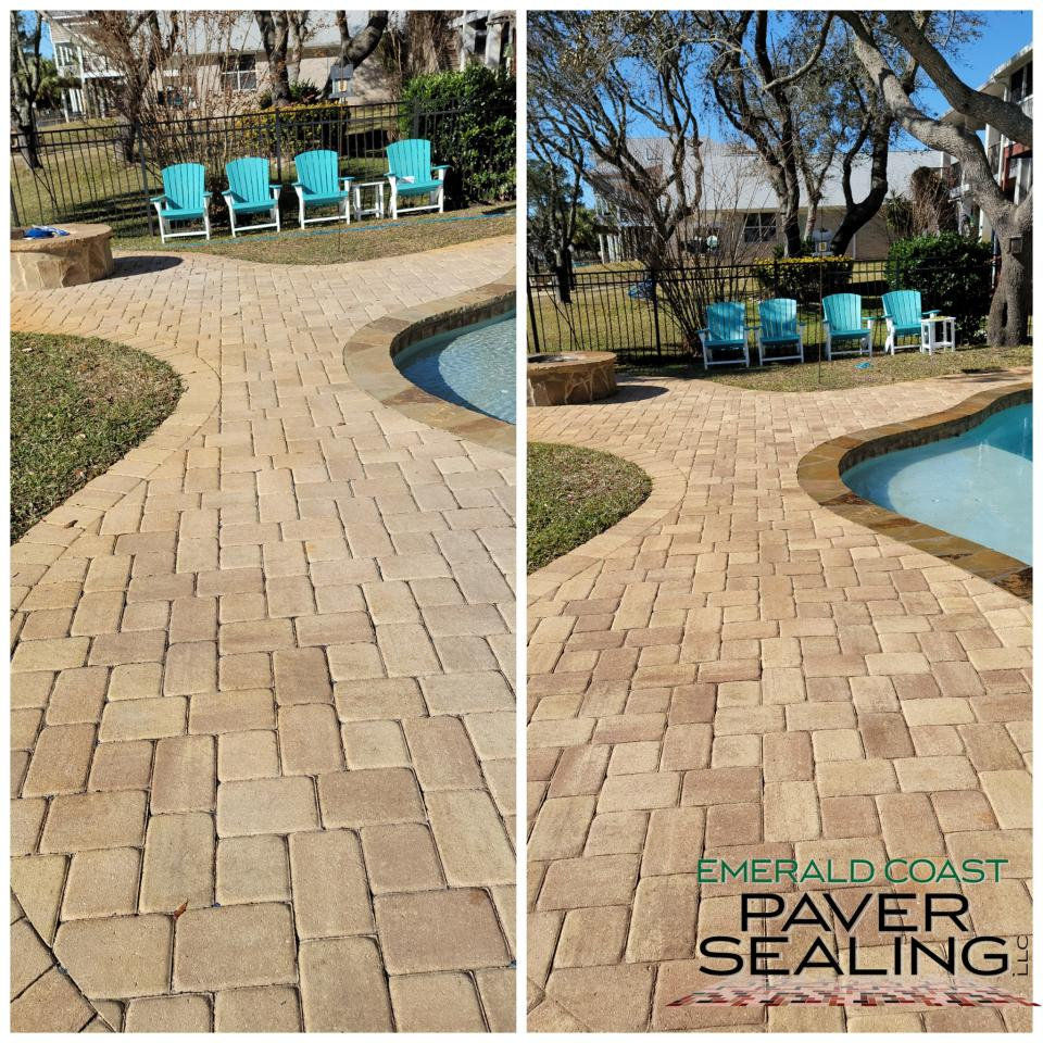 Pool Deck Cleaning and Sealing