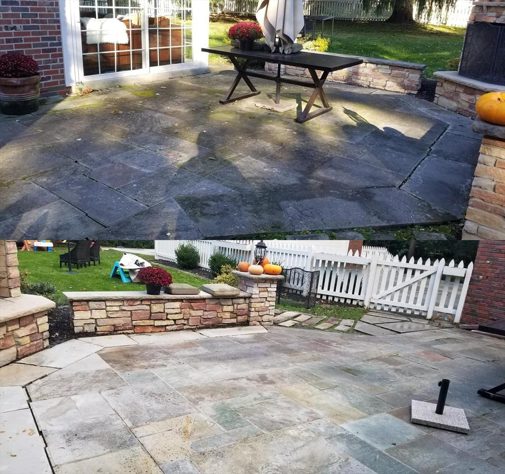 We Safely Clean Concrete, Pavers, Travertine, Stone, & More!