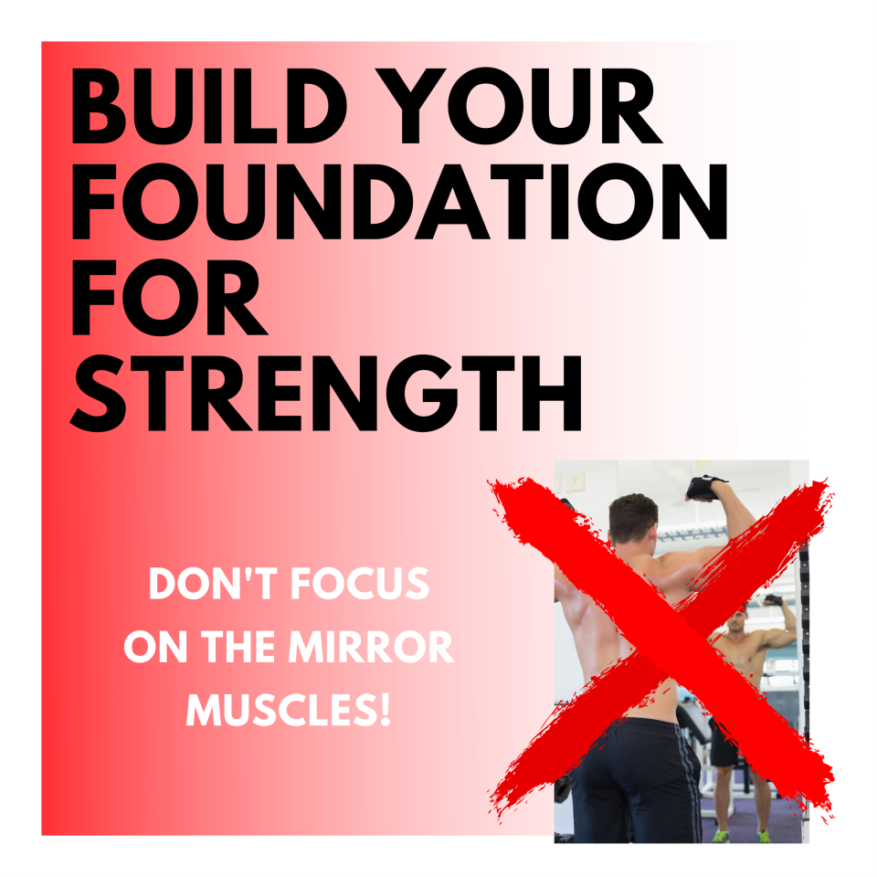 Don't focus on the mirror muscles!
