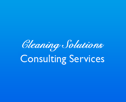 Cleaning Consulting Services