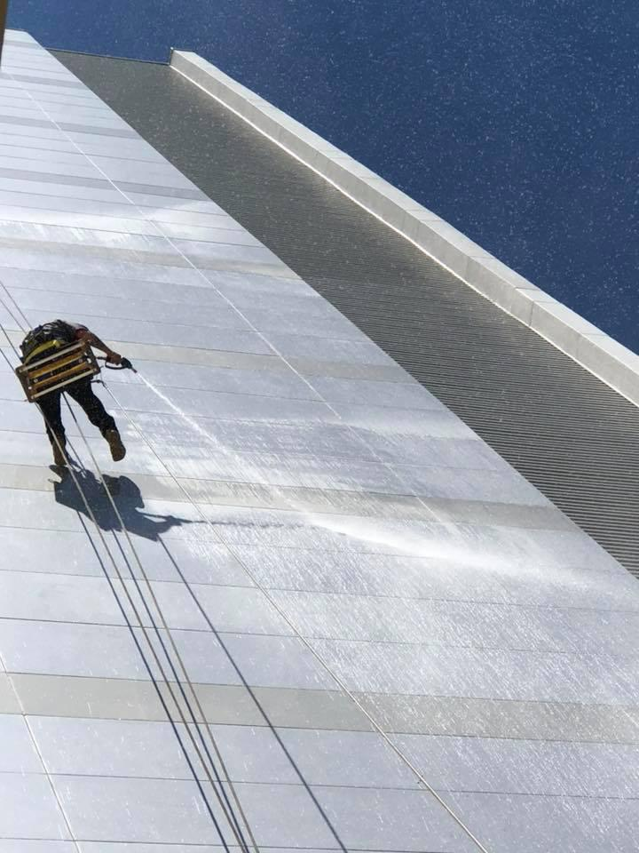 Professional pressure washing services for all sizes of commercial exterior cleaning projects and needs.