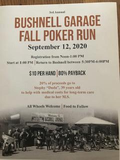 3rd Annual Bushnell Garage Poker Run