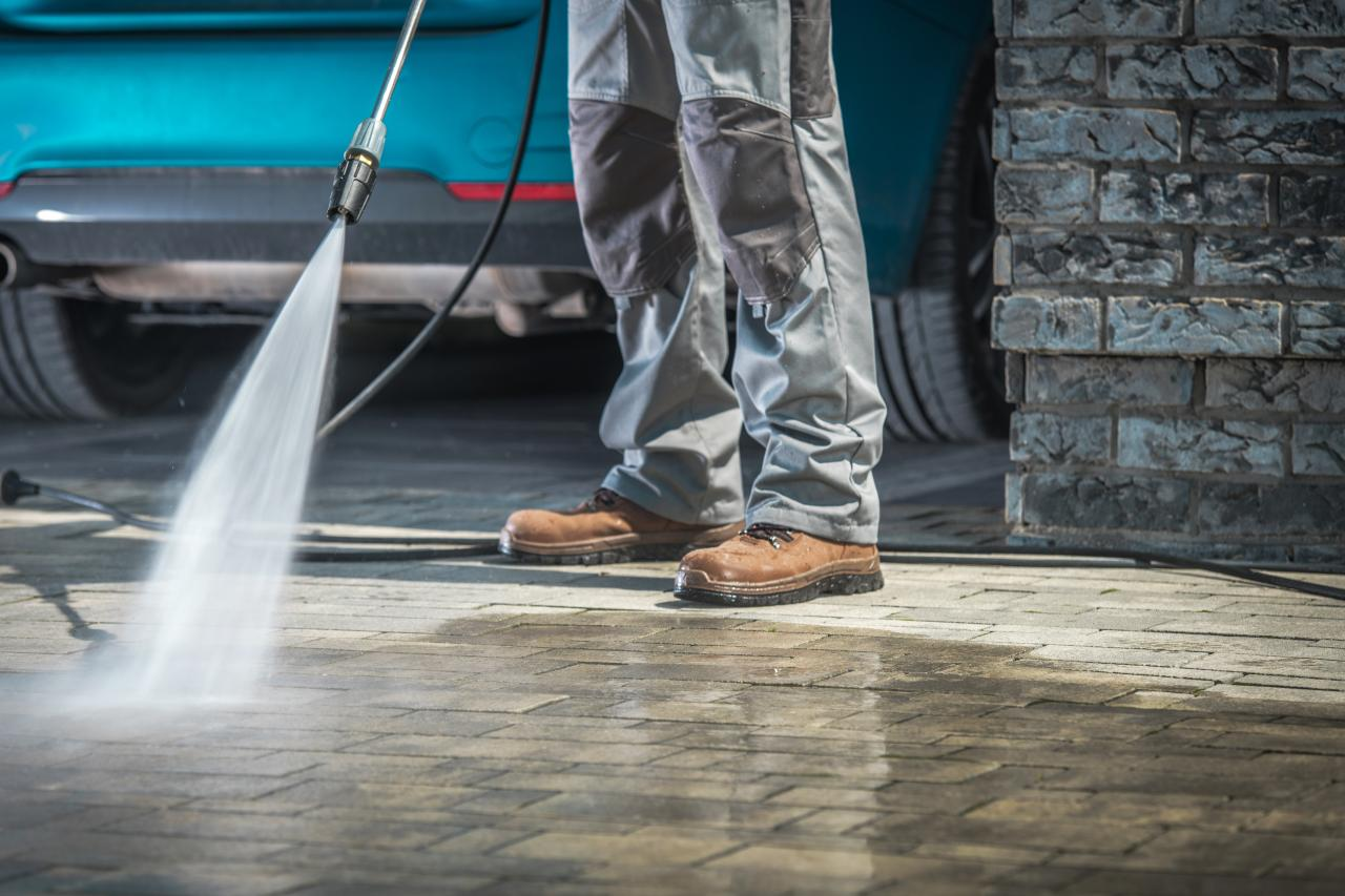 Driveway & Concrete Cleaning Starting at $69
