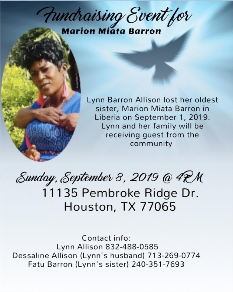 Fundraising Event for Marion Miata Barron