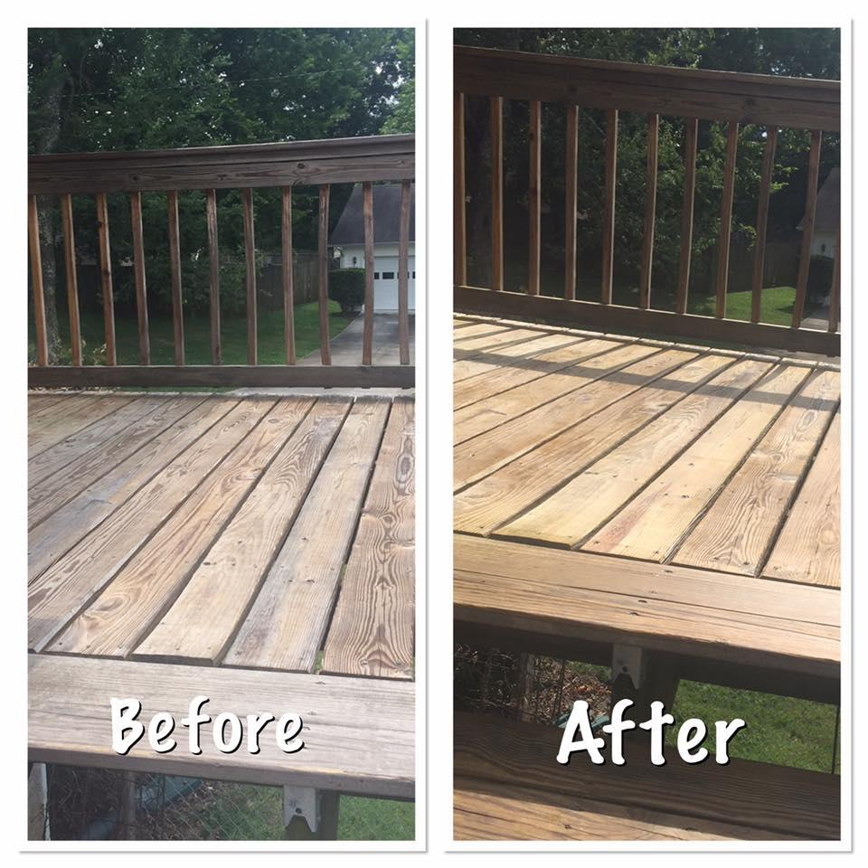 Deck and Fence Washing
