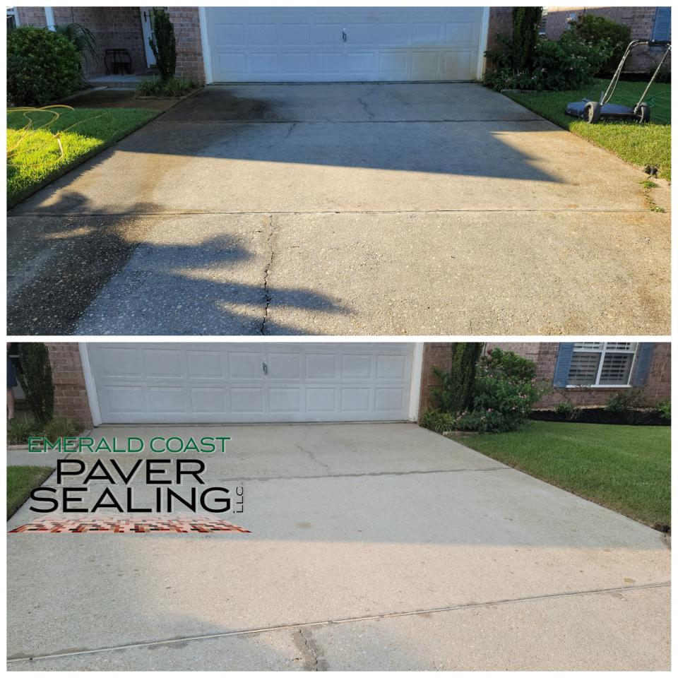 Concrete Driveway Cleaning and Sealing
