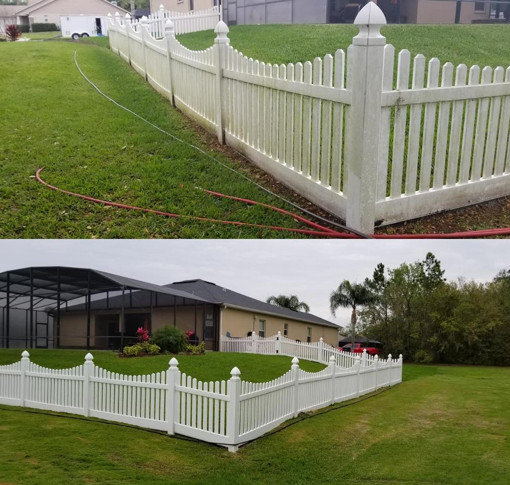 We use safe cleaning techniques and solutions to wash wood and vinyl decks and fences