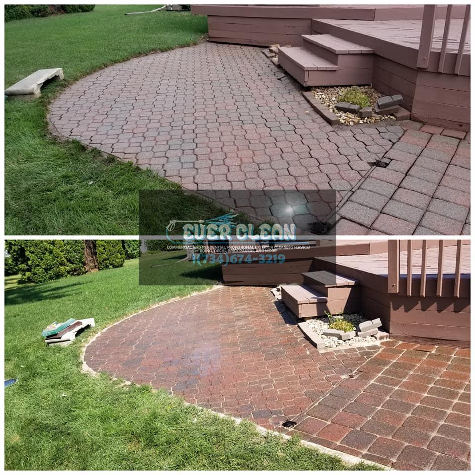 Pressure Washing In Garden City MI - Brick Paver Cleaning