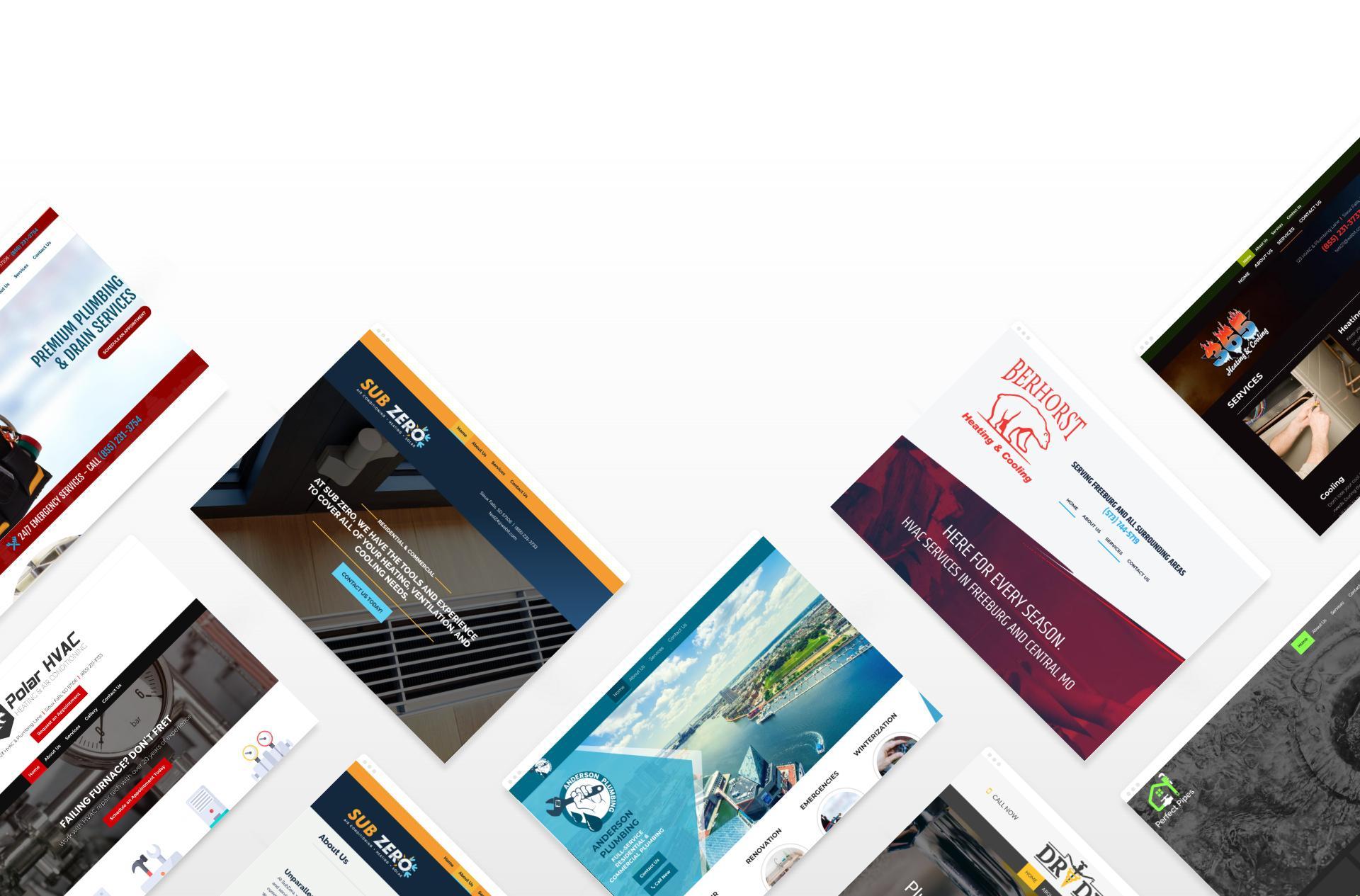 HVAC and Plumbing Websites