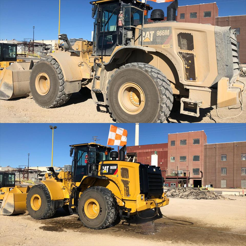We come to you with our mobile heavy construction equipment washing services.