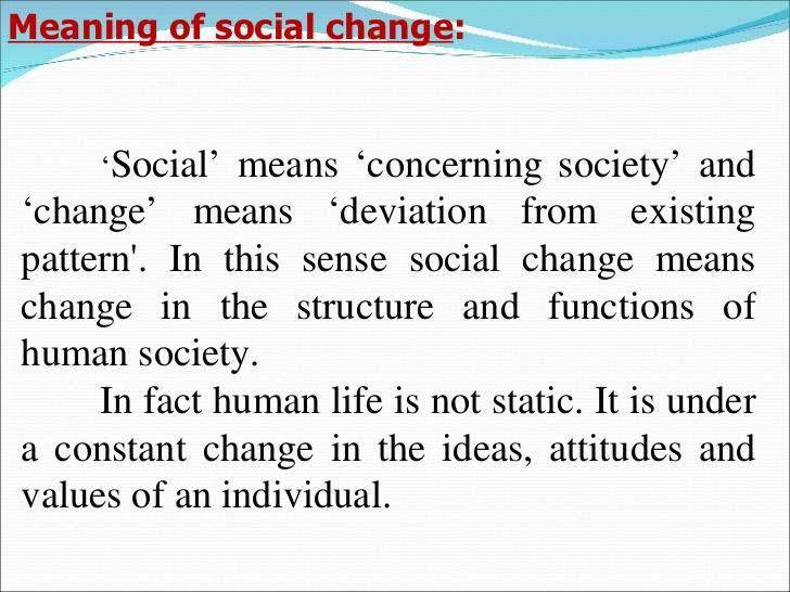 Importance of Social Change