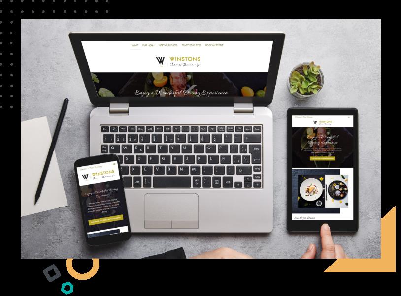 responsive website in desktop tablet and mobile size