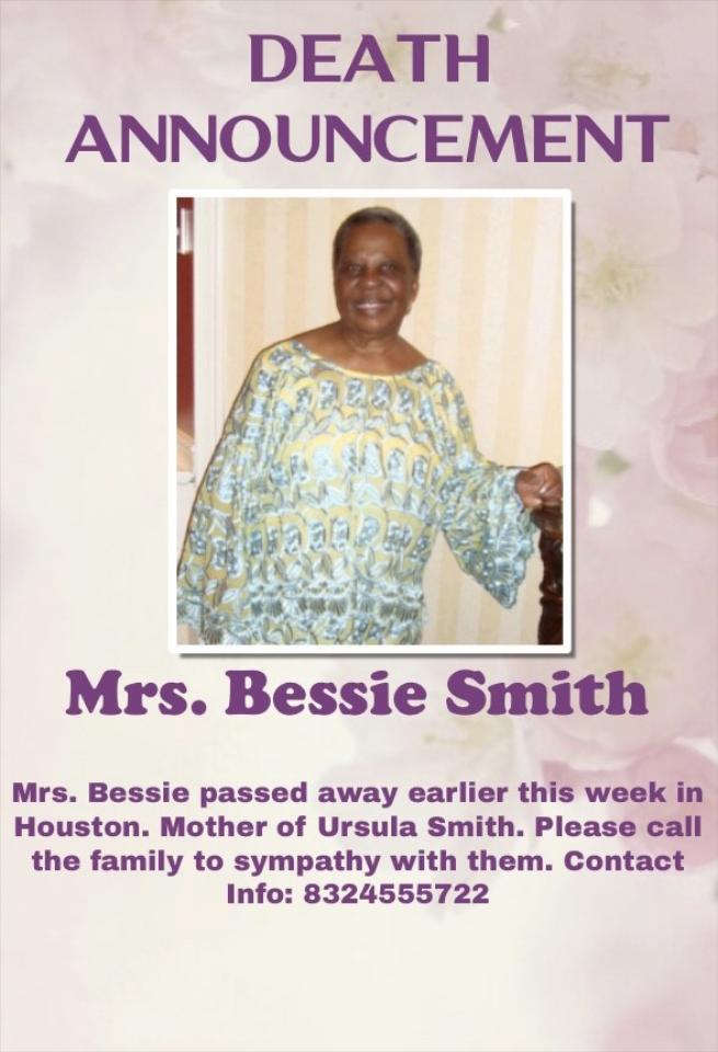 Mrs. Bessie Smith