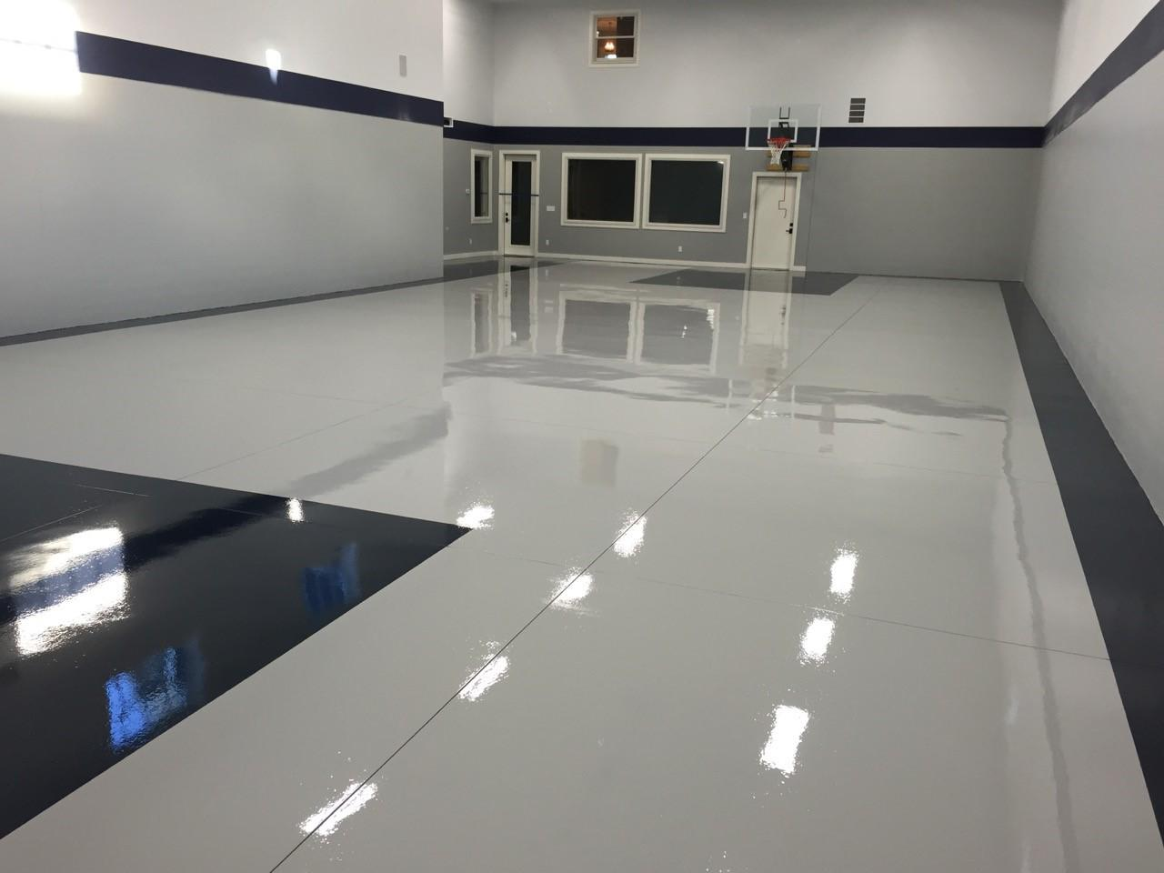 Self Priming Polyurea Floor Installation