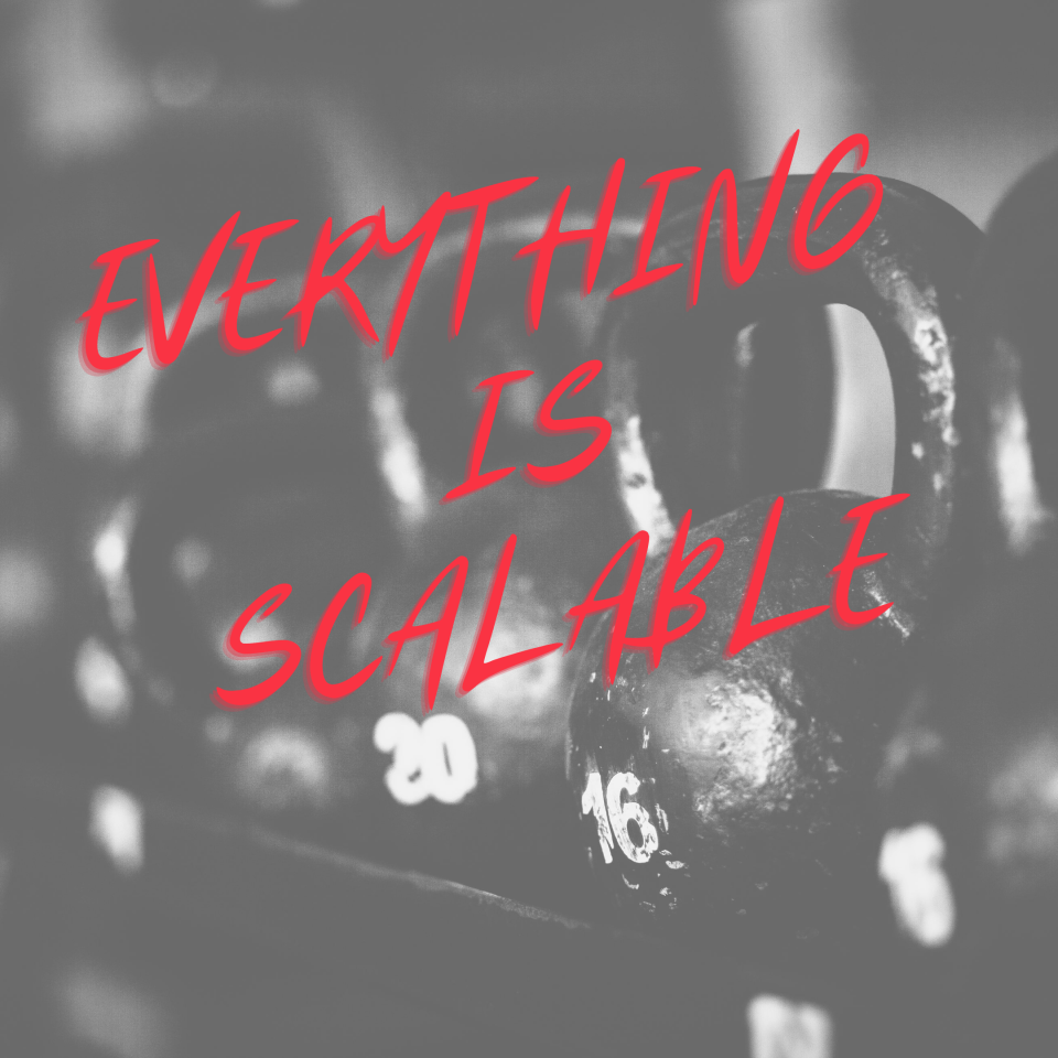 EVERYTHING is scalable!