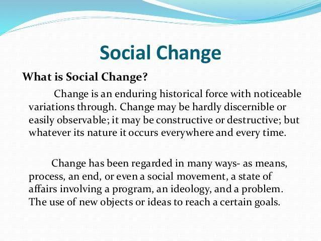 Social Change in the Society