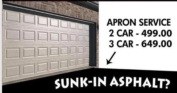 Sunk in asphalt specials!