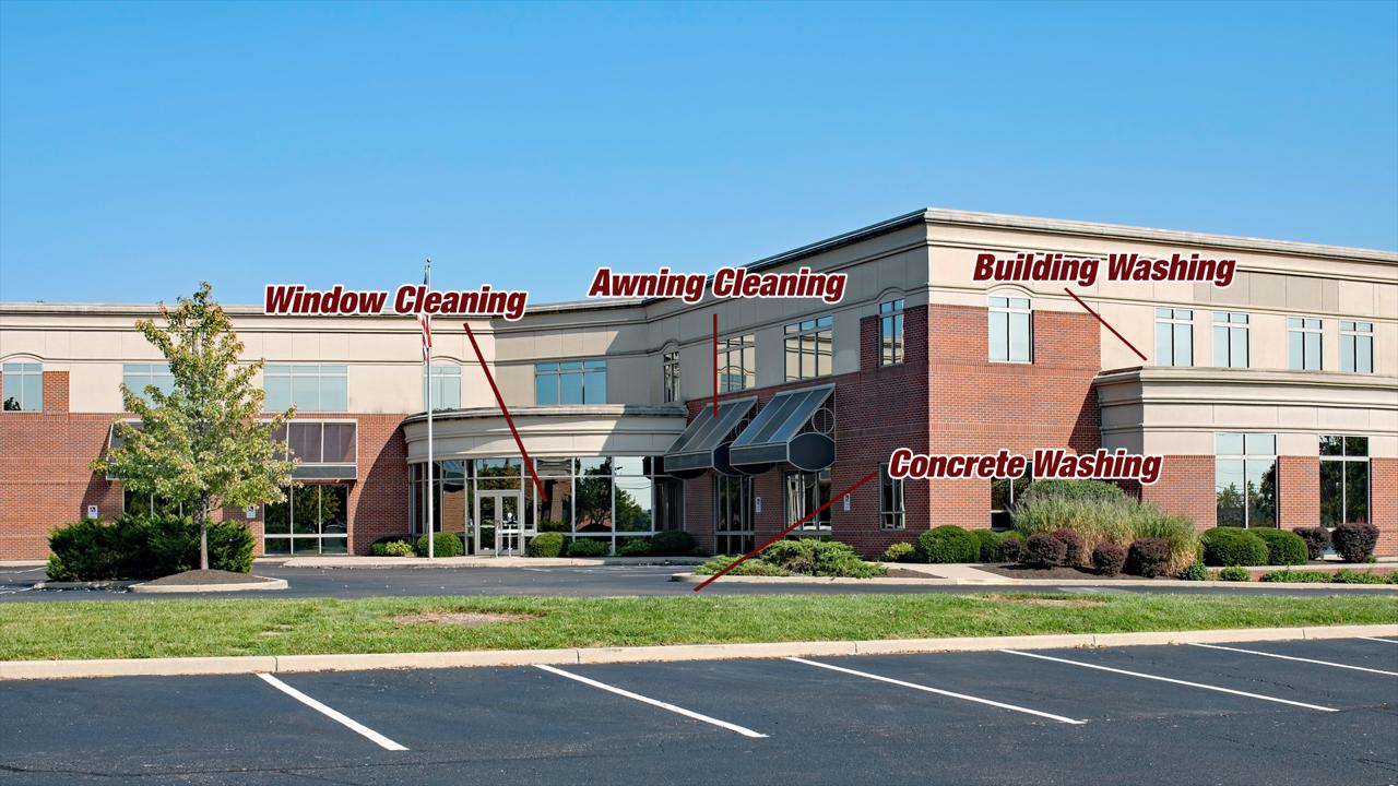 WE ARE EXTERIOR CLEANING EXPERTS FOR COMMERCIAL PROPERTIES