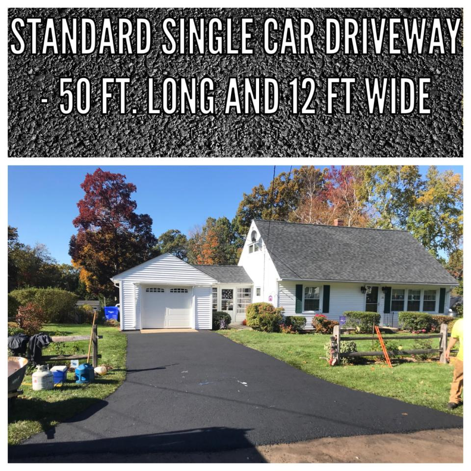 Single car wide driveways (50x12) for only $2,500