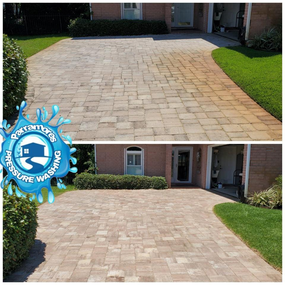 Protect your brick paver driveway with professional paver restoration services.