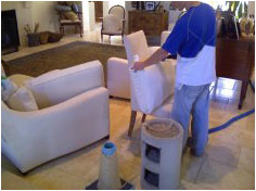 One upholstery cleaning process will not work for all upholstered furniture.