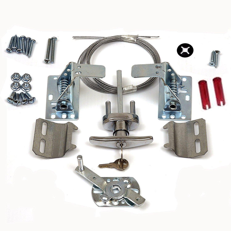 T Handle Universal Garage Door Lock Kit W Spring Latch